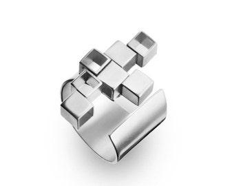 ON SALE Urban  Ring - Urban Geometric Ring - Urban  Silver Ring - Urban Jewelry - Urban Silver Jewelry