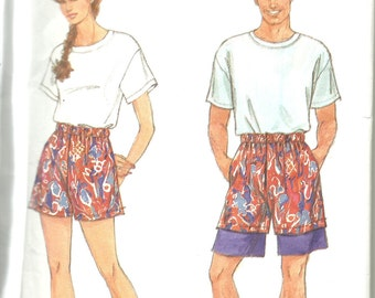 Simplicity 7805    Misses, Mens or Teen Boys Shorts or Knit Top  size xsm-xlg