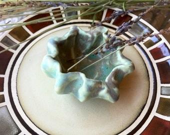 Seafoam Green Ceramic Pinch Pot