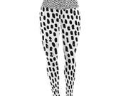 "Yoga Leggings - Black White Spots Kess Original ""Ink Dots"" KIH360A Great Gift Idea!"