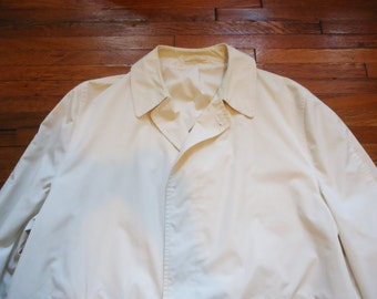 Vintage 60s A. Sulka White Rain Coat 46-48