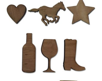 Custom Wooden Shapes or Extra Hearts for drop box guest book - 100 pcs