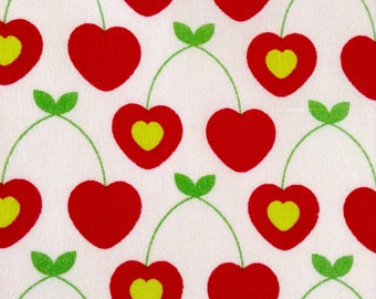 SALE - One Half Yard of Fabric - Cherry Hearts