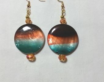 Crystal Desert Earrings / Handmade, hancrafted