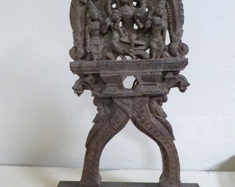 Sarasvati, rosewood sculpture. Hindu goddess of knowledge