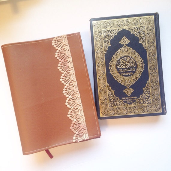 Leather Book Cover Material : Quran cover bible brown book by thereminderseries