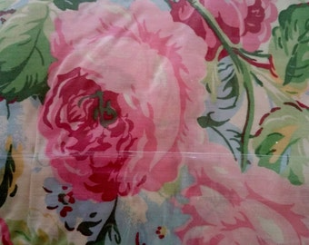 Ralph Lauren NIP Full Extra Deep Fitted Sheet Water Floral Pink Rose Amesbury