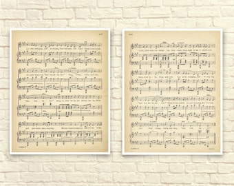 Sheet Music Art, Lullaby Sheet Music, Children's Art, Sheet Music Art Print, Lullaby Art Print. Bye Bye Baby, Nursery Art, Shabby Chic.