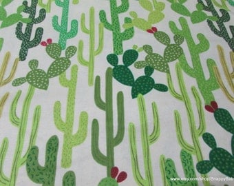 Flannel Fabric - Catus Cactus - 1 yard - 100% Cotton Flannel