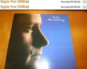 Save 70% Today Vintage 1982 LP Record Phil Collins Hello I Must Be Going Atlantic Records 80035-1 Near Mint Condition 1606