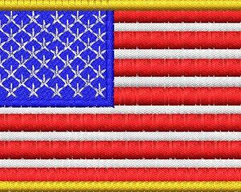 U.S. Flag Embroidery Design