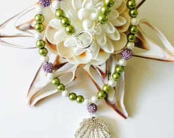 Mermaid Inspired Bridal Necklace.