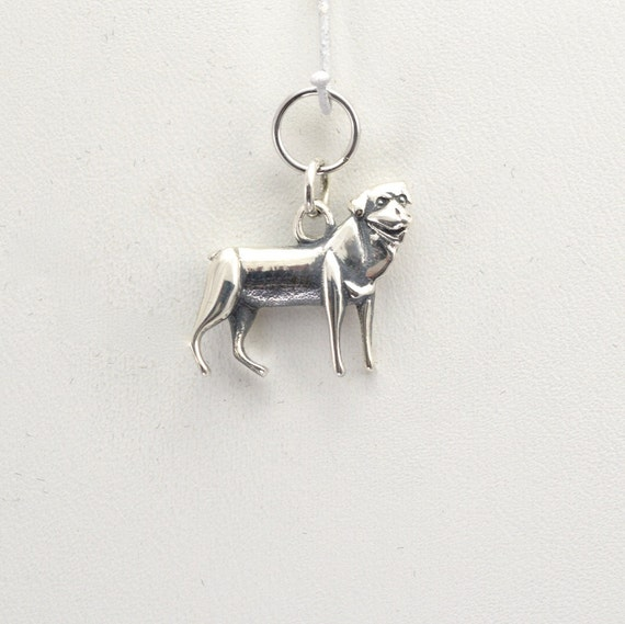 sterling silver rottweiler charm by donna pizarro fr