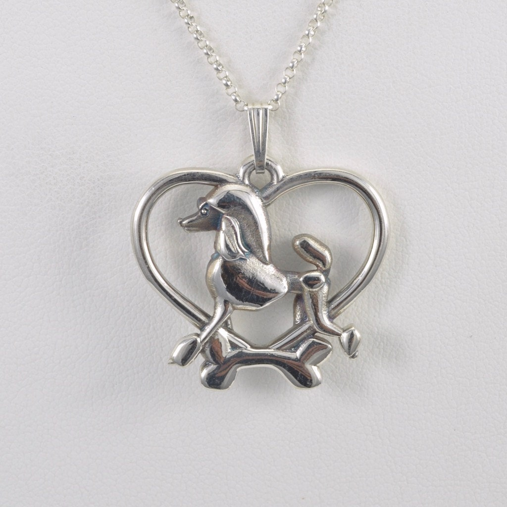 sterling silver poodle pendant w 18 sterling chain by