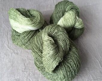 olive, lace yarn, Merino, silk