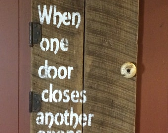 life inspiration  subway art: when one door closes another opens