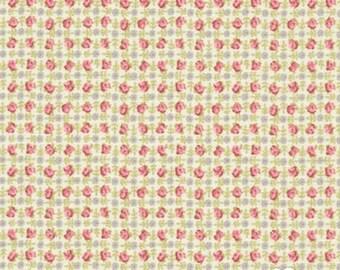 Bespoke Blooms Posie Plaid Pebble Grey - 1/2yd