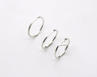 sale ring stack deal package 1 / sterling silver