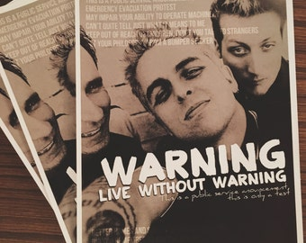 Green Day Warning Poster (A4)