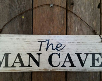 Man Cave Sign - Rustic Wooden Signs