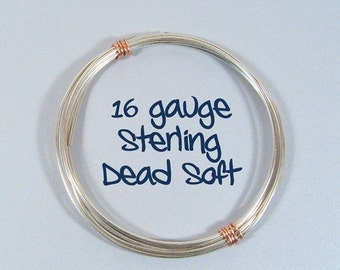 Sterling Silver Wire - 16ga DS  - Choose Your Length