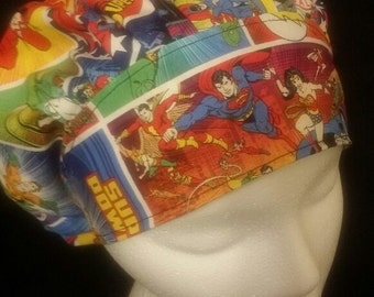 Super Powers DC Comics Super Heros Bouffant Surgical Scrub Hat