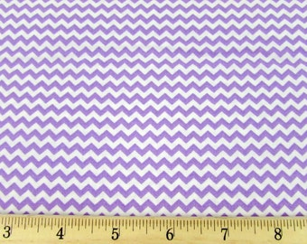 Mini Chevron Lilac/Light Purple Fabric By the Yard
