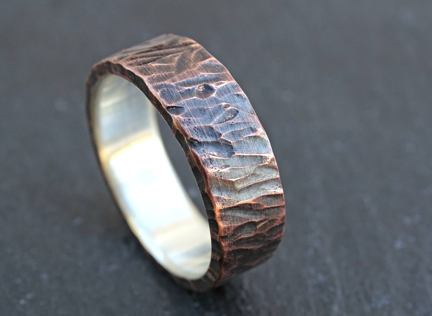 Unique Wedding Band For Men Viking Ring Mens Promise Ring
