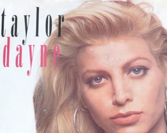 Vintage 45 Record, Taylor Dayne, Love Will Lead You Back, Picture Sleeve, American Pop, Freestyle Music, singer songwriter, Free Shipping
