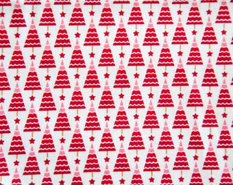 Christmas Fabric - Christmas Tree Fabric - Overstock Fabric - Destash Fabric - Quilting Cotton Fabric - Cotton Fabric
