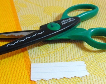 Fiskars paper edgers ~ scrapbooking, edge cutter scissors, decorative cuts.  Please see paper example for the type of cut.