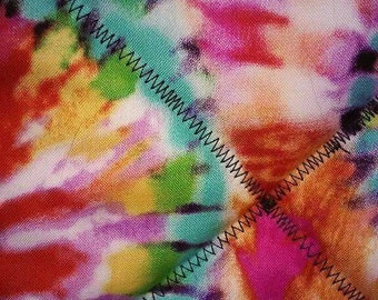 Tie dyed design potholder