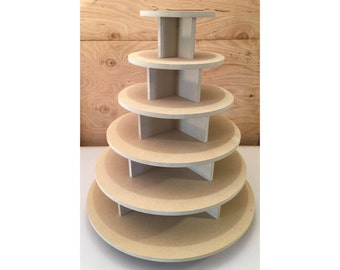 6 tier round unpainted cupcake stand, cupcake holders, cupcake tower, cupcake stand, wedding cake stand, cupcake tower, cake stand
