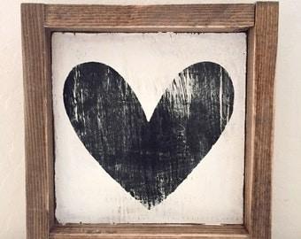 Heart Wood Sign
