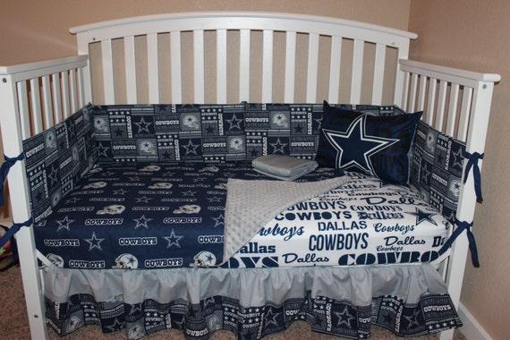 Crib Bedding Set Dallas Cowboys 5 Piece Bumperless NFL