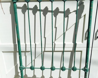 Antique Green Iron Bed