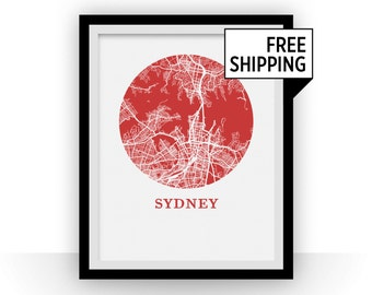 Sydney Map Print - City Map Poster