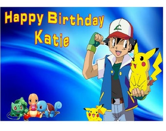 POKEMON Birthday Card Personalised