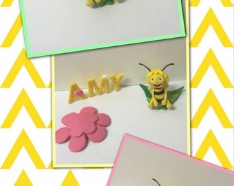 Maya the Bee Fondant Toppers