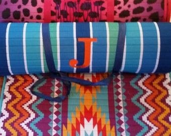 Beach or pool mats with pillow monogrammed
