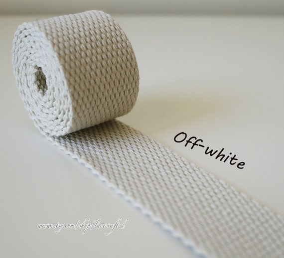 5 Meter 30mm Width Off White Polyester Cotton Webbing