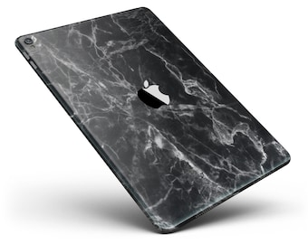 Smooth Black Marble Full Body Skin Decal for the Apple iPad Pro, Air or Mini (All Models Available)