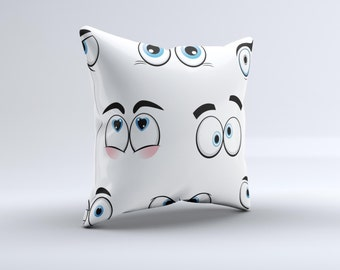 The Crazy Eyes ink-Fuzed Decorative Throw Pillow