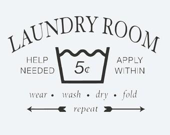 Laundry Room Vinyl Decal
