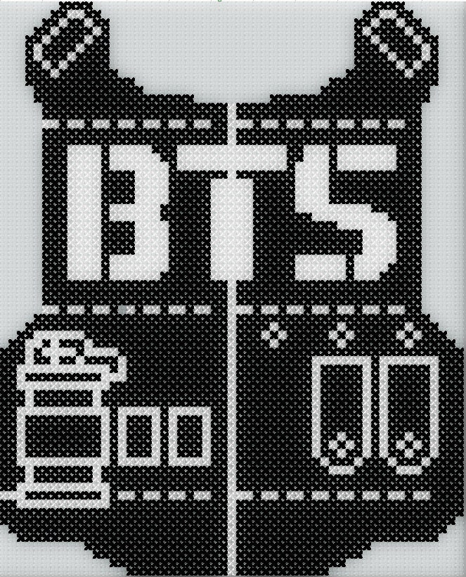 Bts logo cross stitch pattern - Hama beads cuadros ...