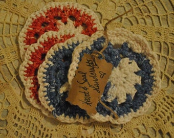 Crocheted Drink Coaster Set