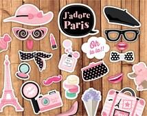 Paris photo booth / Paris party photo booth props / Printable Paris Props / Paris Props / Decoration / Printable Instant Download