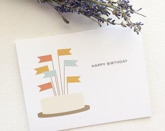 Happy Birthday Cake Card 1pc