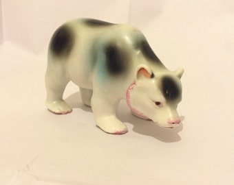 Vintage Mid Century Kitsch Porcelain Bear Figurine
