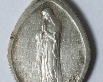 Vintage religious medal Virgin Mary
